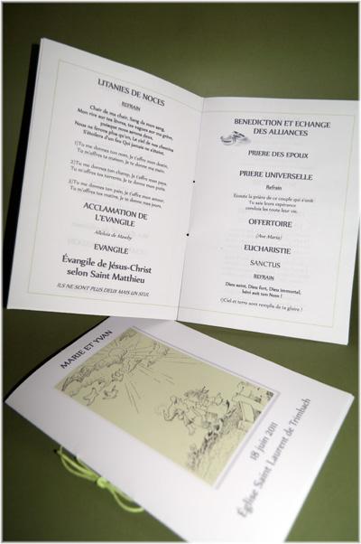 exemple de livrets de messe - Exemple De Livret De Messe Mariage
